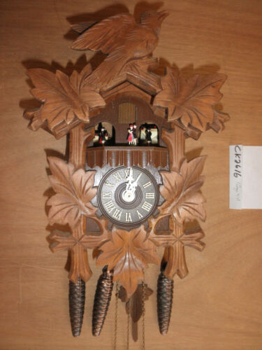 Cuckoo Clock  German working Black Forest  SEE VIDEO musical 1 Day CK2616