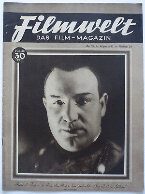 * Filmwelt *, Heft 34/ 24. 8.1930, Film-News aus d. Weimarer Republik, Original!