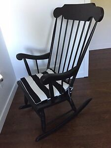 Refinished vintage rocking chair