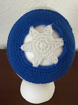 Kippah Yarmulke Jewish Judaica Yamaka Kippa Shabbat Star Of David  Blue & White