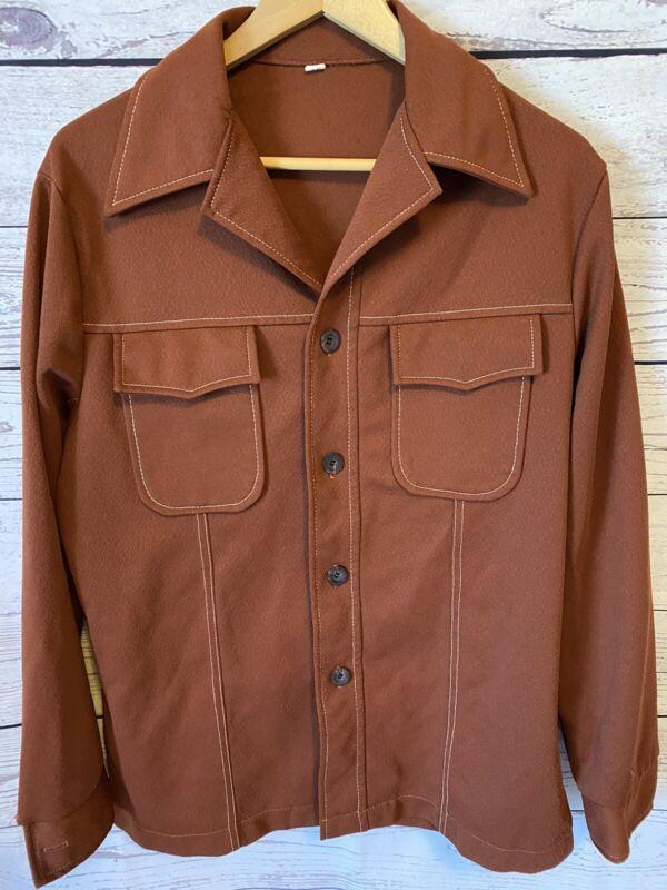 Men's Vintage Leisure Suit Jacket Rust Size 40