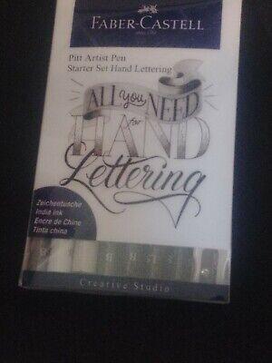 Faber-Castell Pitt Artist Pen India Ink All You Need Hand Lettering Starter Set