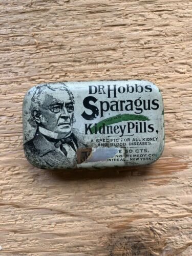 Old Dr Hobbs Sparagus Kidney Pills Sterling Remedy Company Vintage Pill Box