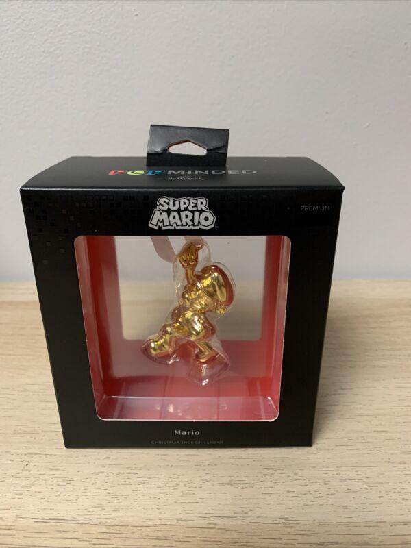 SDCC 2021 Hallmark Exclusive Gold Super Mario Keepsake Ornament IN HAND