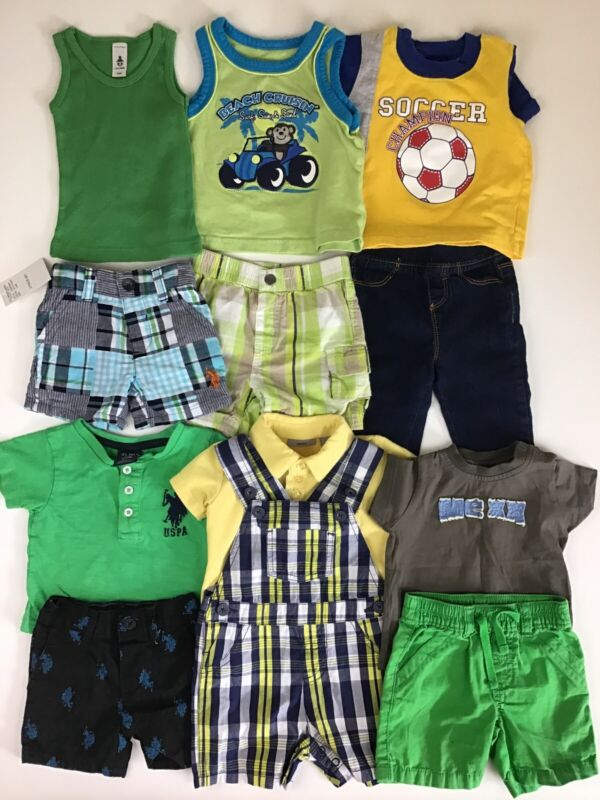Lot Of Boys Spring/ Summer Clothes, Size 3-6 Months.