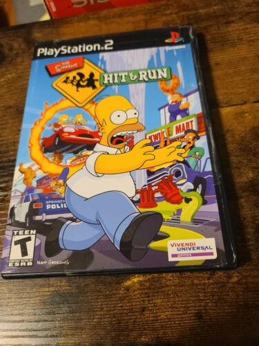 The Simpsons Hit Run Sony PlayStation 2 PS2 CIB COMPLETE MANUAL BLACK LABEL US - $36.00