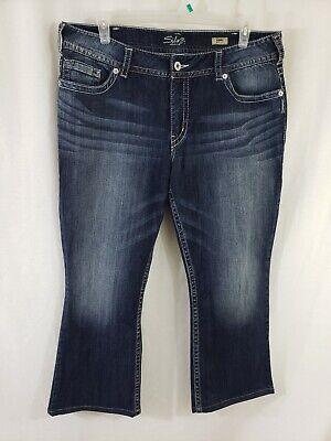 Silver Jeans Suki Boot Cut Womens Blue Denim Size 38 x 28 Dark Wash (Boot Jeans Denim)