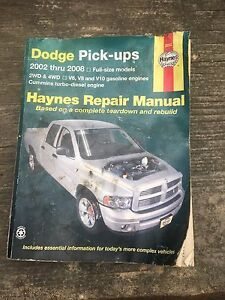 Dodge Pick-Ups Haynes Repair Manual