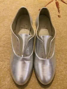 American apparel silver leather shoes size 6.5