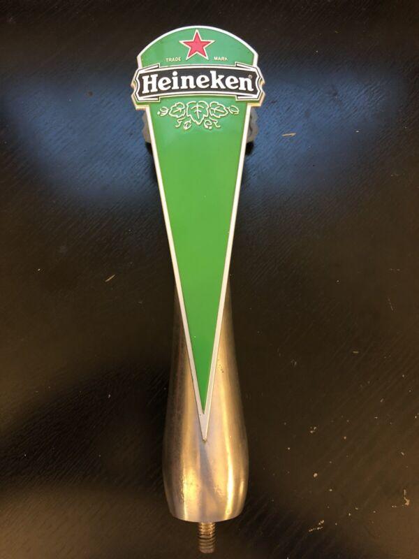 """Vintage RARE Heineken Beer Bar Tap Handle LOOK 11"""" Metal Man cave Display"""