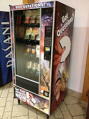 Vending Machine For Snacks Or Dvds. Four Selling Racks. Cc Reader Included.