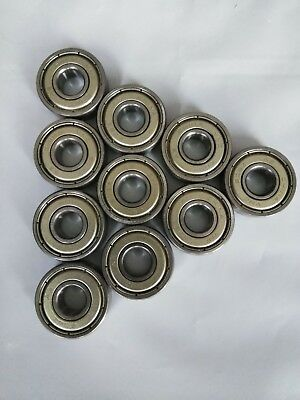 Set Of 10 Scooter Skateboard Roller Inline Skate 608z Ball Bearings By Vnc