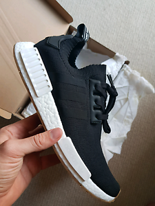 Adidas Originals NMD R1 PK Primeknit Black/Gum, 11 or 11.5US, DS South Melbourne Port Phillip Preview