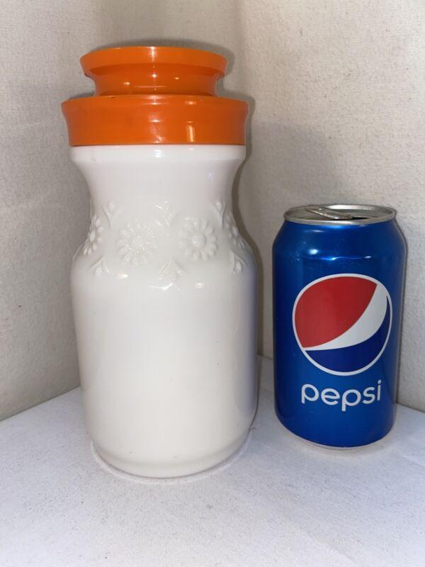 Vtg Mid-Century TANG Orange Juice Coffee Decanter Jar Jug Milk Glass Daisy