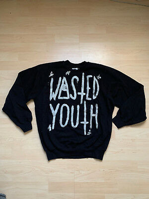 Wasted Youth (Wasted Youth Pullover / Sweatshirt Size S IIMVCLOTHING Indy Rock Satan Devil)