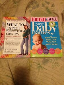 What to expect & baby names books