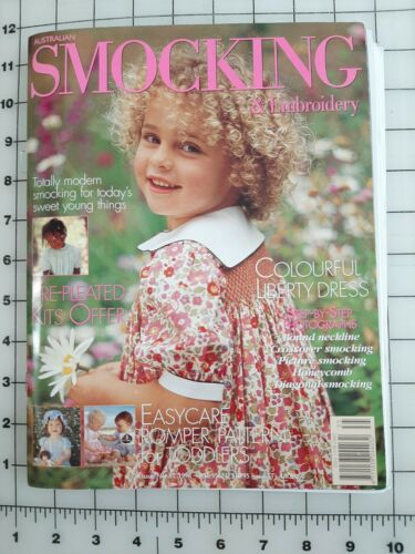 Australian Smocking & Embroidery Magazines Issue No. 35 1996 w Pullout Patterns