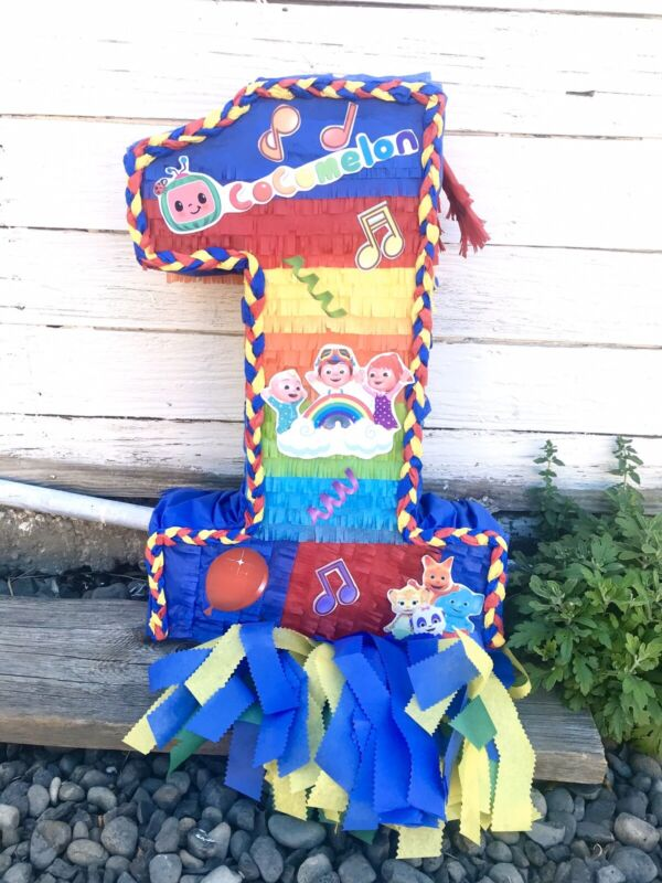 """Cocomelon Number One Pinata. 23"""" Tall 15"""" Width 5"""" Deep"""
