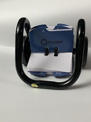 Rolodex 66700 Rolodex Rotary Card File 250 1-34 X 3 14 Cards Black Finish