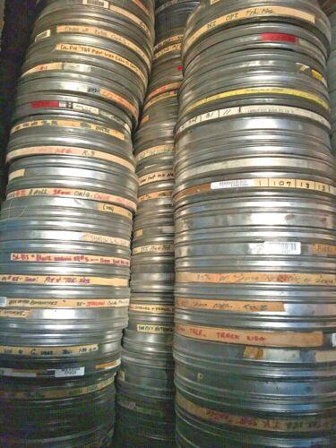 "4 Vintage Film Tins  Movie film can 10.75"" x 1.55"" Metal 35MM Film Cans Kodak"