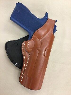 """Premium Leather PADDLE Holster - COLT / KIMBER / RUGER 1911 5"""" bbl (# 3011 BRN) Paddle Holster Colt"""