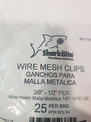 Sharkbite Pex Wire Mesh Clips 38 - 12 Pex Lot Of 5 Bags Of 25pcs 831060