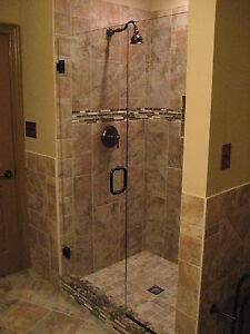 FRAMELESS SHOWER DOOR & PANEL TO 60