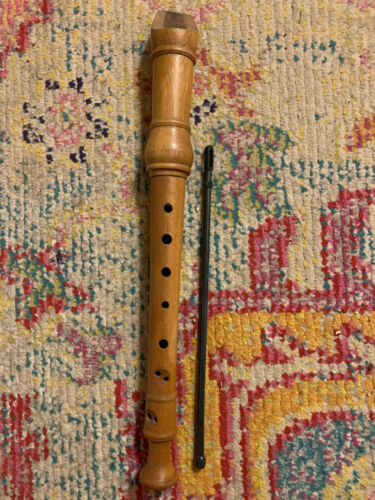 *VINTAGE* 1980s GILL Wooden Soprano Recorder with Cleaning Rod