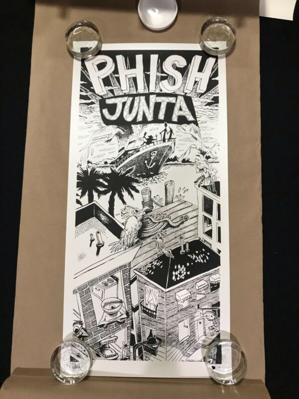 Original Junta Print by Jim Pollock Limited Edition Poster signed & numbered