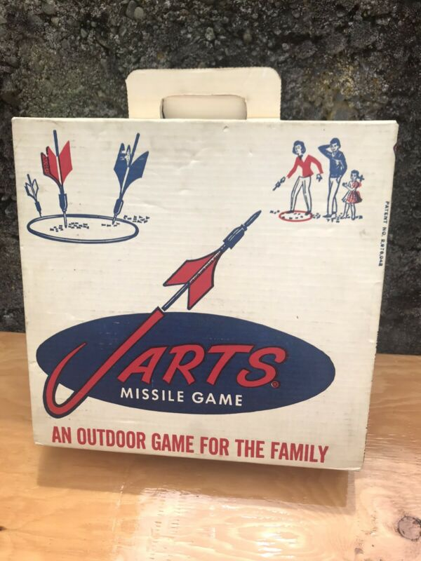 Rare Condition Original JARTS Lawn Dart Set BOX w/ Rings And Fins Only CLEAN VTG