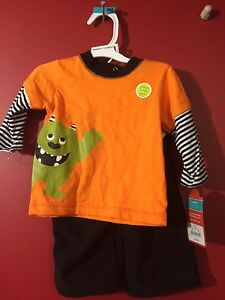 Carter's Glow-in-Dark Halloween Outfit - Size 3M - Brand new
