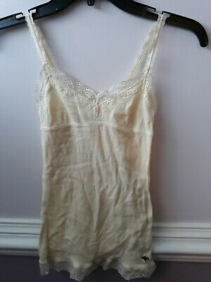 Abercrombie kids Medium 6/8  2 tank tops pink and yellow