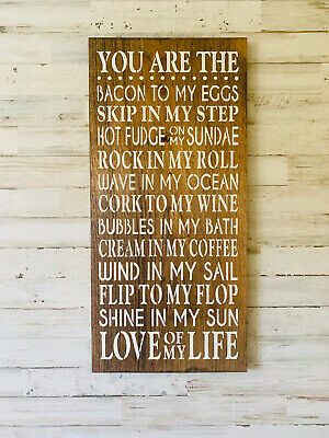 Love Of My Life Wood Sign | Pun Sign | Anniversary Gift | Bedroom Decor | Signs - Anniversary Signs