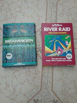 Atari 2600 games Beam Rider and River Raid Rare Games