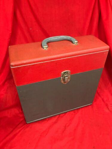 "COLUMBIA 1950/60's Record LP Storage Box Carry Case -12"" Records"