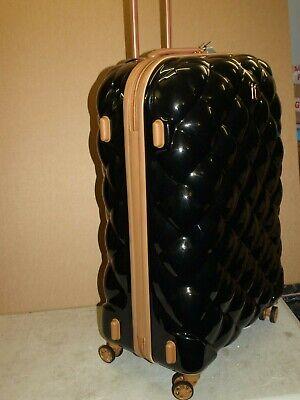 IT Luggage CABIN SIZE suitcase  St Tropez 8 wheel lightweight ABS BLACK & ALMOND