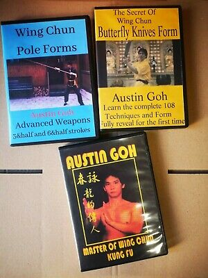 Austin Goh Wing Chun Pole Forms Master Of Wing Chun Kung Fu Butterfly Knive Form