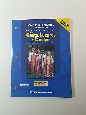 People Places and Change 2 Main Idea Activities Spanish Paperback 2002