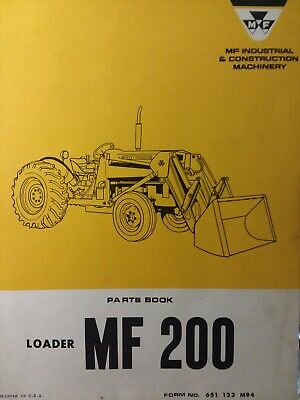 Massey Ferguson Tractor MF 200 Farm Tractor Loader Parts Catalog Manual 1970 for sale  Shipping to India