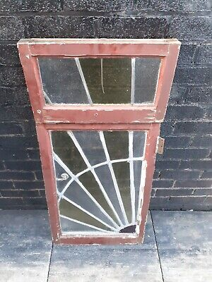 Stained glass window / Reclaimed vintage salvage / Garden / Mancave / Antiques