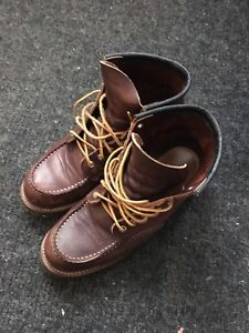 Red Wing Moc Toe Boots Size 8.5