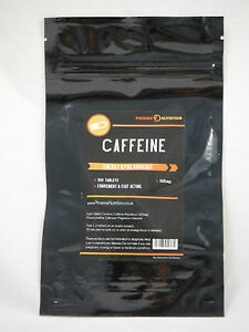 Caffeine tablets 100 x 100mg energy weight loss pills