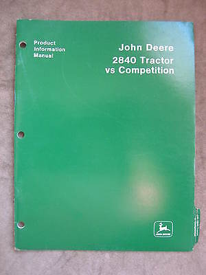 John Deere 2840 Tractor Product Information Manual