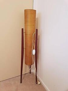Retro 1960's rocket floor lamp.  Fibreglass & teak. Hatton Vale Lockyer Valley Preview