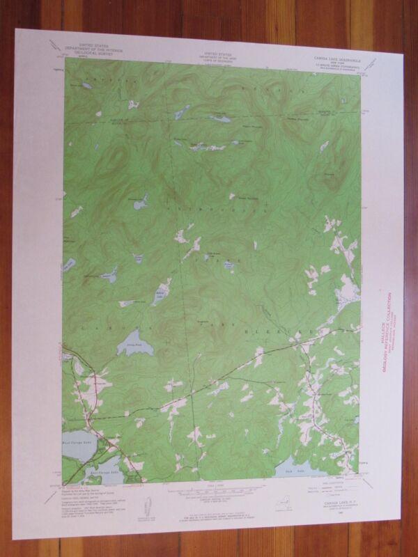 Caroga Lake New York 1961 Original Vintage USGS Topo Map
