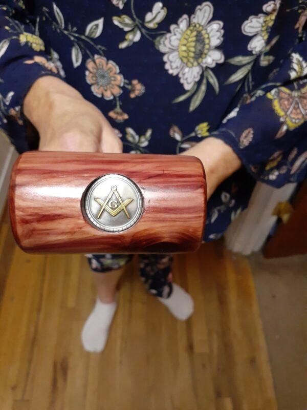 Handmade Beautiful Red Cedar Masonic Presentation Gavel & Sounder