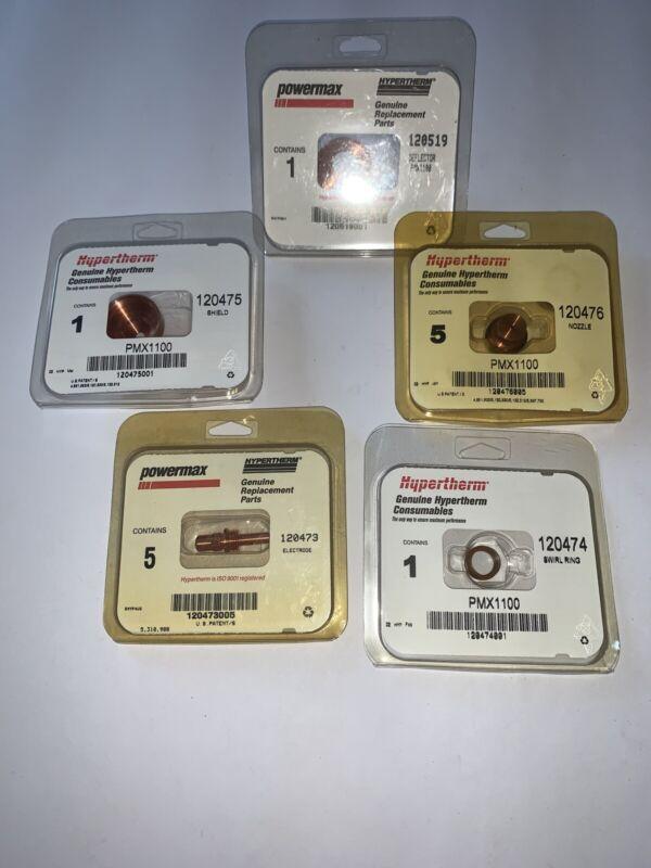 Hypertherm Powermax 1100 Consumables  120473 120474 120475 120476 120519