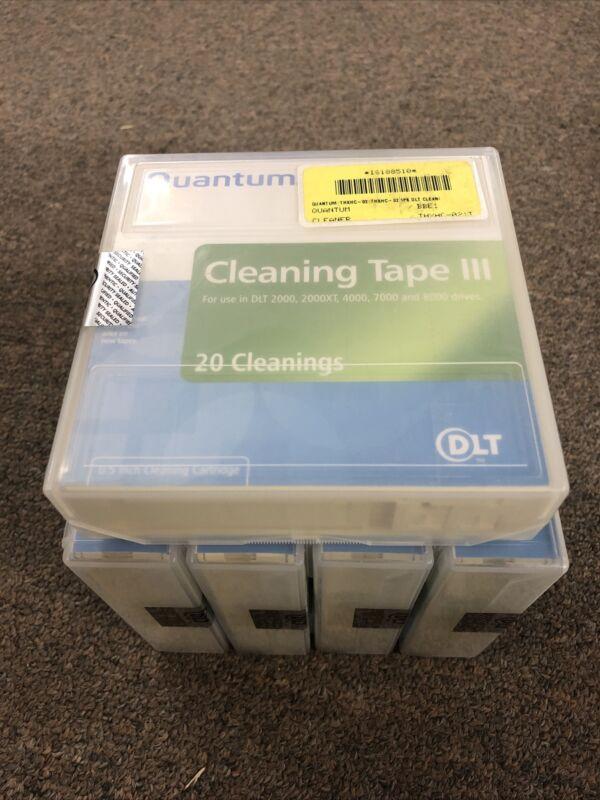 Lot of 5 New Sealed Quantum THXHC-02 DLT Cleaning Tape III .5 Inch