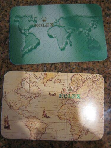 TWO (2 ) GENUINE VINTAGE ROLEX POCKET CALENDAR CARDs 1993-1994 and 2001-2002