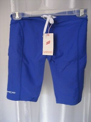 Beyond Boys Blue Practice Jammer Swimsuit/Bathingsuit Sz 26/12-14 NWWT